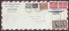 Nepal 1959 1R Bird pair, etc. on American Embassy cover to USA