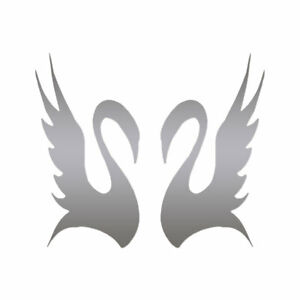 Pair of Swans - Vinyl Decal Sticker - Multiple Color & Sizes - ebn672
