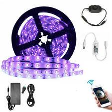 10M 5M UV Schwarzlicht LED Streifen Lichtband Netzteil Dimmer WIFI-Controller