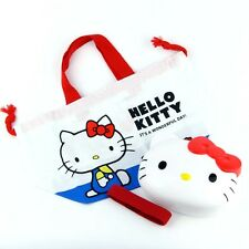 Hello Kitty Lunch Box Sanrio Bento Purse bag Made in Japan Food Container