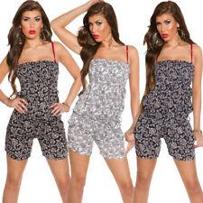 Plus Size Bandeau Floral Jumpsuits & Playsuits for Women