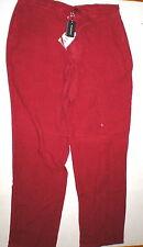 NWT New Mens US 36 X 36 Mabitex Italy 54 Dark Red Pants Designer Linen Tall