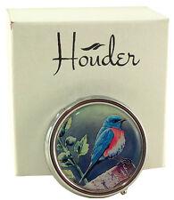Bird Pill Box For Purse Decorative Pill Case Pretty Pill Holder Mint Case Metal