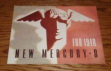 1940 Mercury 8 Eight Foldout Sales Brochure 40 Coupe Convertible