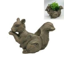 Squirrel Garden Planter Indoor Outdoor Wood Look Finish Resin Plant Large Size