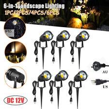 12V 5W Garden Spotlight COB LED IP65 Outdoor Spike Lights Path Landscape Lamps