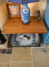 Dog Crate Cover Rustic Oak | Wooden Dog Crate Table Top | Wooftop | 42,36,30,24