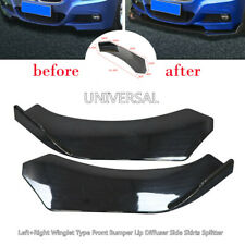 Left+Right Car Truck Winglet Type Front Bumper Lip Diffuser Side Skirts Splitter