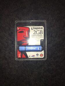 Kingston 2GB DataTraveler Encrypted Secure Flash Drive USB Stick Pen