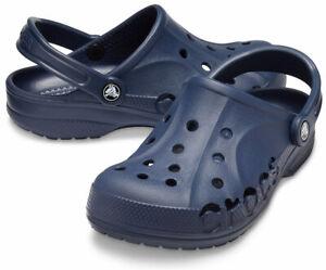 NWT CROCS BAYA AUTHENTIOC MEN'S WOMEN'S NAVY LIGHTWEIGHT SLIP ON CLOGS SHOES