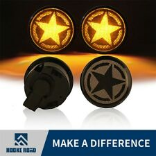 Pair Five Star LED Smoke Turn Signal Lights for 2007-2018 Jeep Wrangler JK