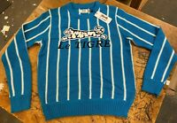 Le Tigre Sweater Men's Striped 80's Blue 100% authentic knit New Tags LARGE XL
