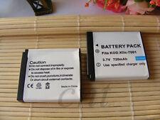 2x Battery for Polaroid NP40 / KLIC-7001 | Polaroid t1031, t1035, t1234, t1235