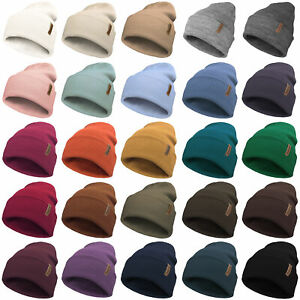 Classic Slouch Beanie Hat Unisex Soft Warm Winter Woolly Mens Ladies Colours