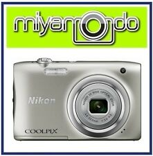 Nikon CoolPix A100 Digital Camera (Silver) + 8GB + Case (M'sia)