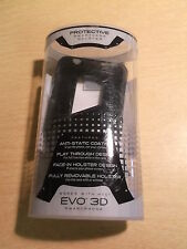 Platinum Smart Case & Holster Black For HTC EVO3D *FREE SHIPPING*