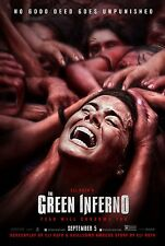 The Green Inferno Original Movie Poster Double Sided - Rare Withdrawn style