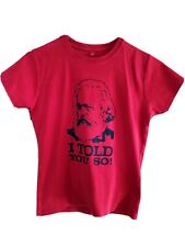 Vintage Karl Marx Savage London Collectible Tshirt Red Size L (Ethical Cotton)
