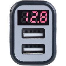 revolt Kfz-USB-Ladegerät mit Spannungswarner, LED-Display, 2x USB, 3,1 A