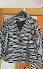Ladies black and white short smart jacket. Size 14. Office/Casual.