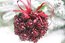 Gisela Graham Natale Acrilico Logan Bacca Kissing Ball Cluster Decorazione x 2