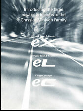 2002 Chrysler Town & Country Van Ex EC EL Original Car Sales Brochure