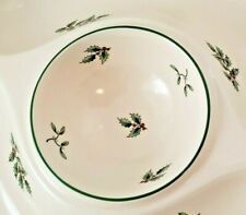 Spode Christmas Tree Platter Crudite Serving Dish Chip Dip Tray Holly BEAUTIFUL!