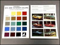 1974 AMC Color Paint Guide Car Brochure - Gremlin Pacer Hornet Matador Javelin