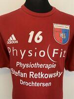Adidas SV Drochtersen Assel German Football Retro Red Training T-Shirt Tee XL