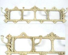 Wandgarderobe Kleiderhaken Gusseisen Gelenk Garderobe Antik Shabby weiss 63 cm