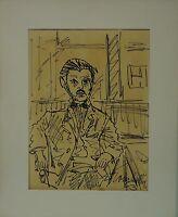 ERICH TROMBETTA HAMBURG 1910-1998 MANN IM CAFE - EXPRESSIV 1963