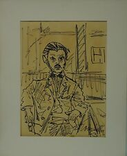 Erich Trombetta Amburgo 1910-1998 uomo nel cafe-expressiv 1963