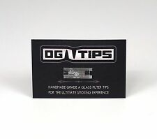 ONE ( 1 ) OG SMOKING TIP Hand Made Glass Filter Cigarette Rolling Insert 420 USA