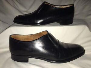 John Lobb Abbey 1551 Black Calf Slip On Dress Shoes UK 9.5E(medium)/US 10.5 EUC!