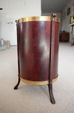 Antique C.1800's Victorian timber & polished brass jacobean plant pedestal stand
