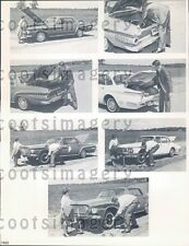 1962 Composite Changing Flat Tire Instruction Demonstration Press Photo