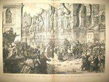 AUTRICHE VIENNE 32e Rgt D'INFANTERIE BOSNIE PORTUGAL TOUR DE BELEM GRAVURES 1879