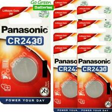 10 x Panasonic CR2430 3V Lithium Coin Cell Battery 2430, DL2430, 2028 EXP