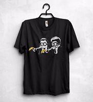 Pulp Fiction T Shirt Banksy Minions Banana Parody Big Kahuna Burger
