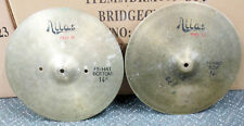 "Vintage ATLAS PRO II 14"" Hi Hat Cymbals Quick Beats Made in Italy by UFIP 1960's"