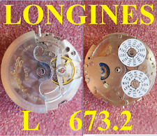 longines cal. l 673.2 movement automatic old watch parts working running vintage