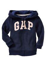 GAP Baby Boy 12-18 Months NWT Navy GAP Logo Fleece Zip Hoodie Sweater Cardigan