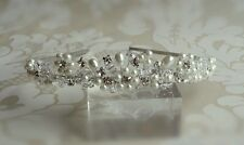 handmade swarovski crystal diamante & ivory pearl wedding bridal hair tiara SALE