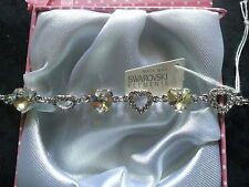 Genuine Swarovski Elements Idea Regalo Boxed Bracciale-LIGHT GOLD CRYSTAL - £ 35!