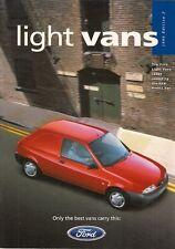 Ford Fiesta Van Courier Escort Van 1996-97 UK Market Sales Brochure