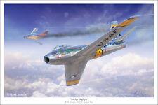 """F-86 Sabre Aviation Art Print - 16"""" x 24"""""""