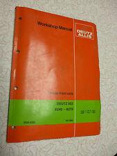Deutz 6240 - 6275 Service manual for front axle