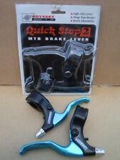 NOS BMX MOUNTAIN BIKE QUICK STOP 2 II BRAKE LEVER SET PAIR BLACK & BLUE NIP