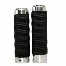 """1"""" Billet Rubber Fly By Wire Hand Grips for Harley Electra Glide Road King"""