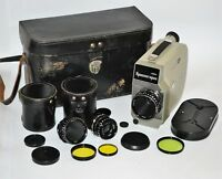 """RARE ONE OF THE BEST NON-PROFESSIONAL USSR """"KRASNOGORSK-1"""" 16mm MOVIE CAMERA (2)"""